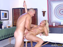 Breasty blond olivia fox receives her rear aperture pounded
