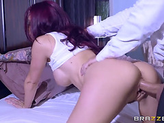 Redheaded mommy monique alexander taking that shaft doggy position
