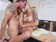 Slutty teacher nina elle receives fucked in the classroom