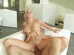 Staci carr rides hard prick reverse cowgirl style