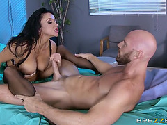 Audrey bitoni strokes,menacing sucks,threatening and tit copulates that wet lengthy penis