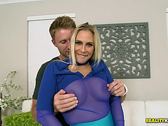 Beauty allwood enjoys nasty foreplay with a youthful dude