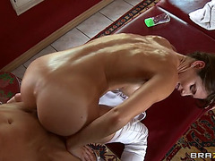 Hottest sweetheart jenni lee is on all fours for a doggy style fucking