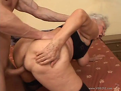 Breasty granny acquires nailed by a sexually excited dude