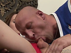 A mouthful of cum for the lascivious lady-man hazel tucker
