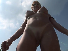 Sluts flashing titties outdoors at spring break