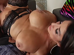 Curvaceous raven hart is taking a ramrod in her wet crack and anus