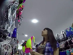 A shop assistant copulates lucia nieto in a fitting room on hidden webcam