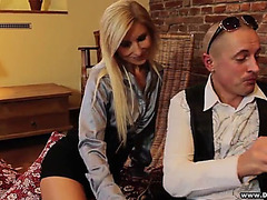 Blond mother i'd like to fuck ends up with a mouthful of goo after hard fuck