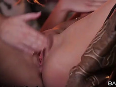 Terrific lesbo quickie with enamoring nubiles samantha rone and kenna james