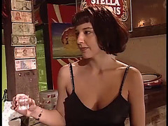 Mother I'd Like To Fuck in dark nylons screwed in a bar by bartender part 1