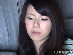 Oriental babe's screwed by a boy as his girlfriend watches