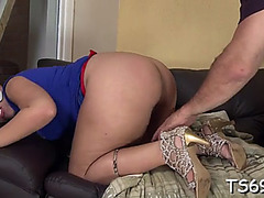 Doggy-style anal fuck with t-girl