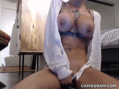 Palatable bald whore filmed herself whilst seducing u