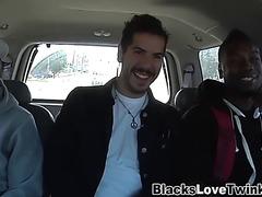 Man rides two dark dicks
