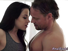 Chic euro angel anally group-fucked doggy style
