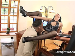 Renata darksome stubborn secretary anal screwed
