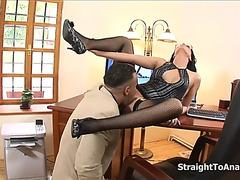 Renata darksome stubborn secretary anal screwed