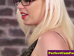 British mother i'd like to fuck sucks for facial at her office