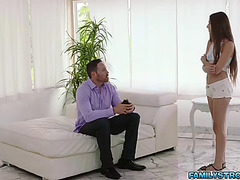 Concupiscent stepdad copulates arielle fayes bawdy cleft itch