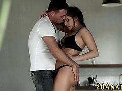 Dark Brown receives butt screwed