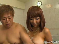 Mao hamasaki is screwed by a chap until she's filled by ball cream