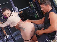 Mandy muse work her a-hole hard in the gym fearsome(anal)