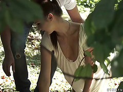 Chelsea sun acquires her little rectal hole licked and gently drilled outdoors
