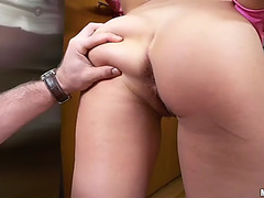 Liza is a cute cleaning lady lust to feel a man's hard prick