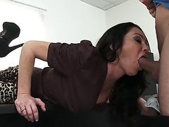 Lush lady boss dayton rains bonks her employee in her office