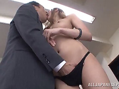 Hot asain cowgirl with diminutive love melons acquires her bald twat licked then fucked hardcore