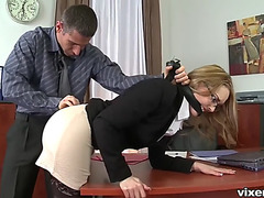 Boss punishes kandall flogging and fucking her in the ass