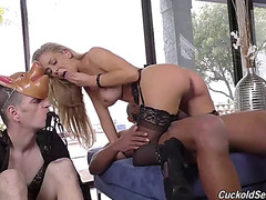 Mother I'd Like To Fuck cherie deville mounts a bbc in front of white cuckold