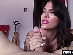 Hawt tgirl rimjob with spunk fountain