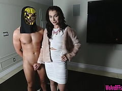 2 fortunate pledges lily and daisy fuckfest with sorority sister