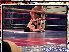 Breasty seductive euro wrestles les gal