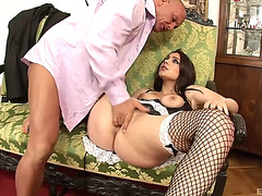 Valentina nappi's shaggy pussy drilled well by a throbbing pecker