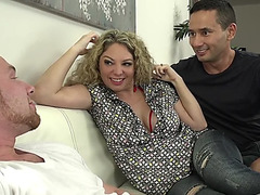 Kiki daire joins a pair of studs for a naughty bi-sexual three-some