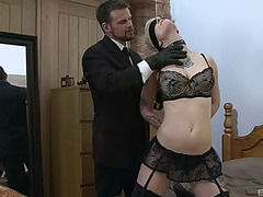 Miss trixx fastened up by her slavemaster for a magnificent fuck