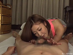 Insatiable japanese chicks are pleased to ride an erected rod
