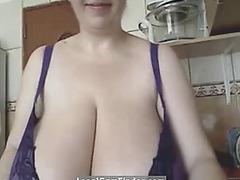 The romanian big beautiful woman-mistress fearsome-threatening alicia in kitchen