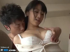 Japanese legal age teenager bonks aged perv