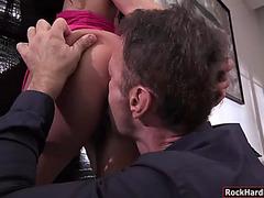 European playgirl alexa tomas astonishing anal trio act