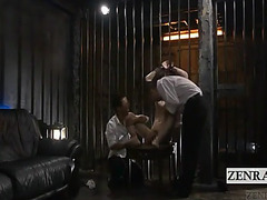 S&m thraldom lady-boy ruka amane in the cell