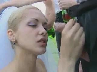 Porn Tube of Outdoor Bride Gangbang