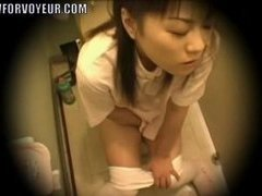 Asian Nurse Gets Caught Masturbating