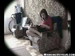 Spycam Woman caught Masturbating