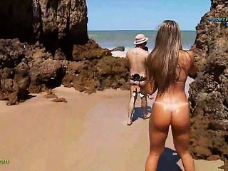 Porno Video of Funny Report On Brasilian Nudist Beach