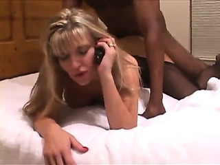 Porn Tube of Wife Gangbanged With Husband On Phone. Creampie