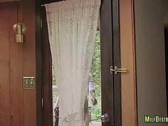 Lewd housewife screwed by ebon